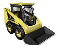 3D modo Illustration of Skid Steer Loader