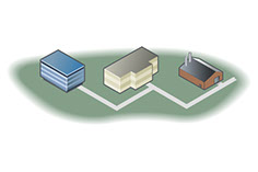 Vector Illustration of Factory Buildings